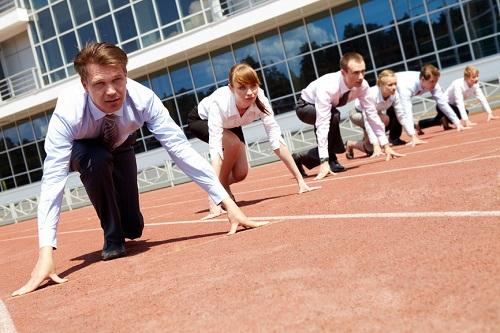 Business leaders racing