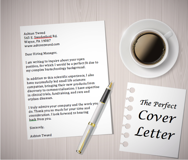 The perfect cover letter for getting an asset management job